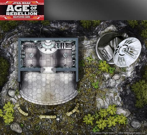 Star Wars, Age of Rebellion roleplaying game map 2 by