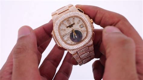 Patek Phillipe Rose Gold Chrono Watch Flooded With 21