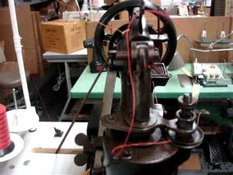 Singer 29-4 How to thread the machine - YouTube