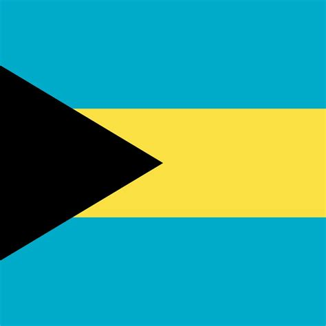 Flag of the Bahamas image and meaning Bahamian flag