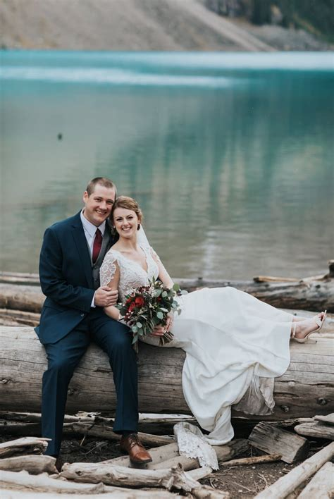 Moraine Lake elopement with ceremony at Fairmont Chateau