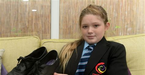 Schoolgirl slapped with uniform warning because her shoes