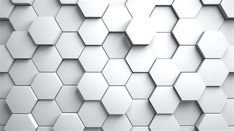 Abstract Hexagons Background Random Motion,