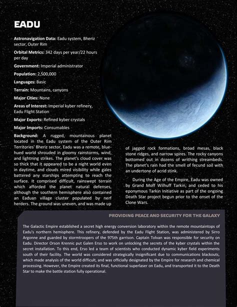 Planets, planets, and more planets - Page 6 - Star Wars