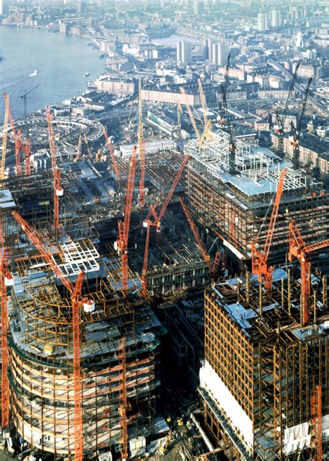 Phase One during construction - Canary Wharf Group