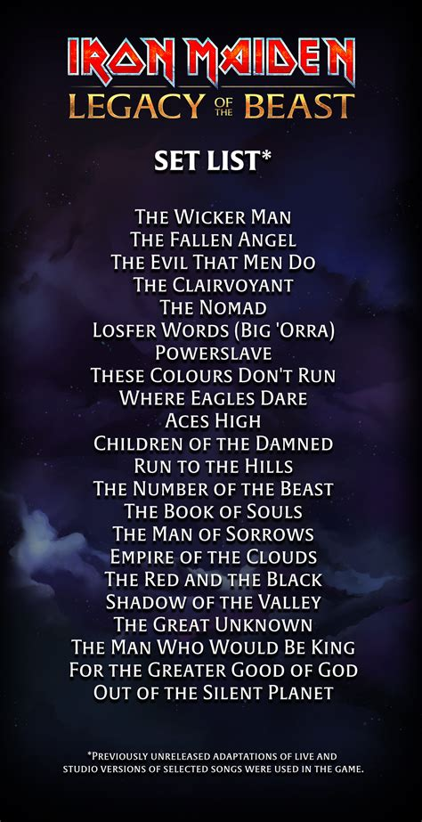 Parlons Setlist ! (Page 2) / Legacy Of The Beast Tour 2018