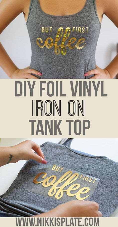 Easy Iron On Decal Tank Top --- Nikki's Plate Blog