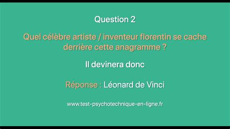Tests psychotechniques : Anagrammes n°6 - YouTube