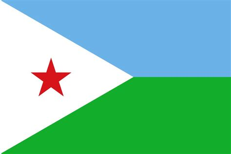 Flag of Djibouti image and meaning Djibouti flag - country