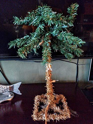 """18"""" Lighted Palm Tree Artificial 35 Lights Electric Table"""