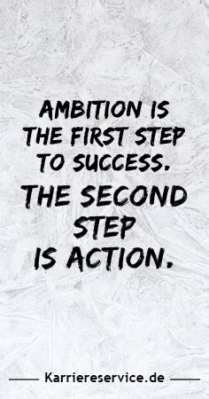 Motivational quote: Ambition is the first success