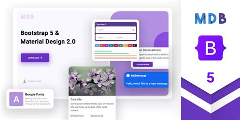 Bootstrap 5 & Material Design 2