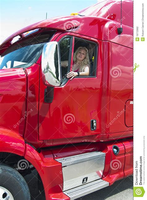 Blonde Woman Truckdriver Stock Photography - Image: 19772992