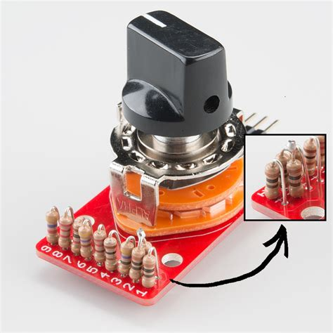 Rotary Switch Potentiometer Hookup Guide - learn