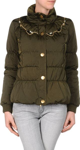 Love Moschino Down Jacket in Green   Lyst
