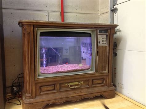 Old TV Converted into Fish Tank Resembling Seinfeld's