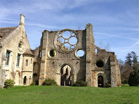 Vaux de Cernay Abbey, Old Ruins on a Sunny Day