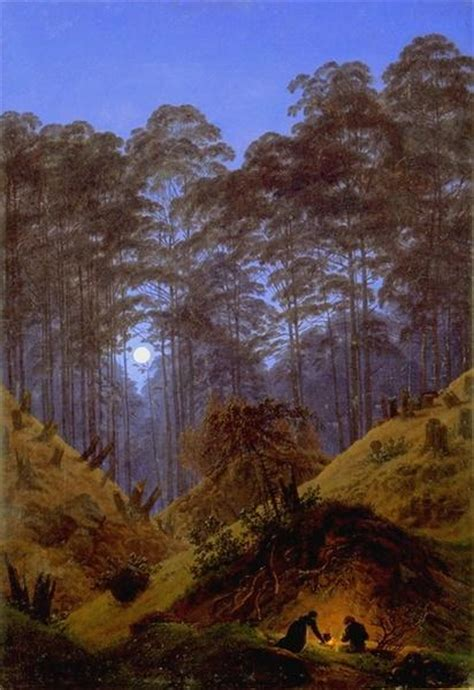 Inside the Forest under the moonlight, c