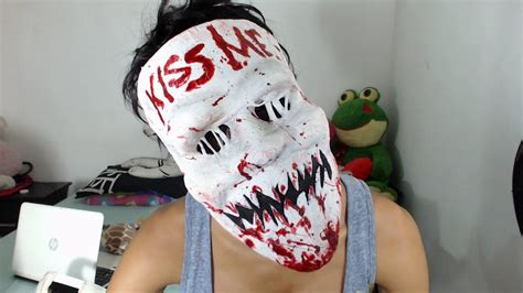 The Purge election year tutorial Candy Girl | mask - YouTube