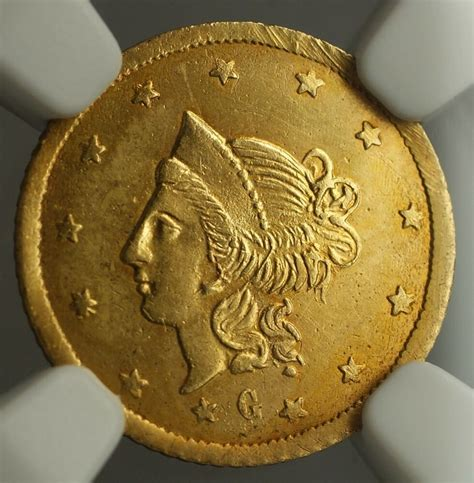 1870 California Fractional Gold Round Liberty Gold $1 Coin