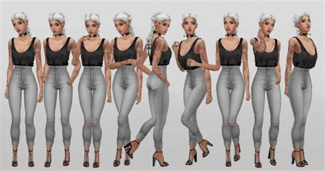 Simsworkshop: Simple Model poses V5 by catsblob • Sims 4