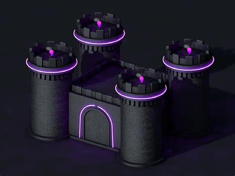 Neon Castle by Erin Pridemore on Dribbble