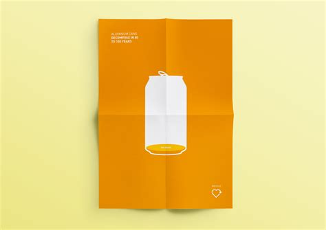 Data Driven Minimalist Recycling Poster Examples