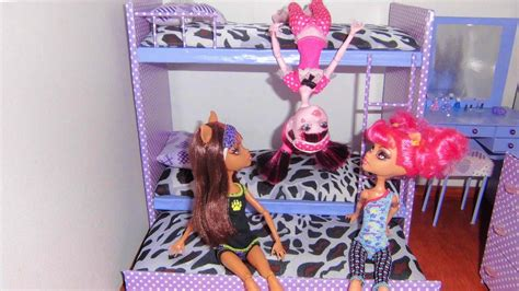 How to make a bunk bed for doll (Monster High, Barbie, etc