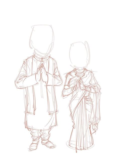 Drawing Guide - The Making Of Newly married couple