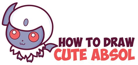 How to Draw Cute Absol from Pokemon (Chibi / Kawaii) in
