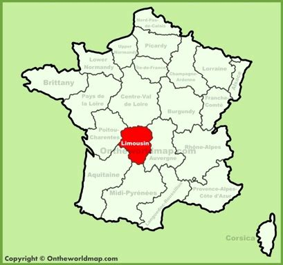 Limousin Maps | France | Maps of Limousin