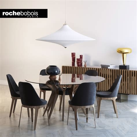 3d models: Table + Chair - Roche bobois, ASTER, TOURNICOTI